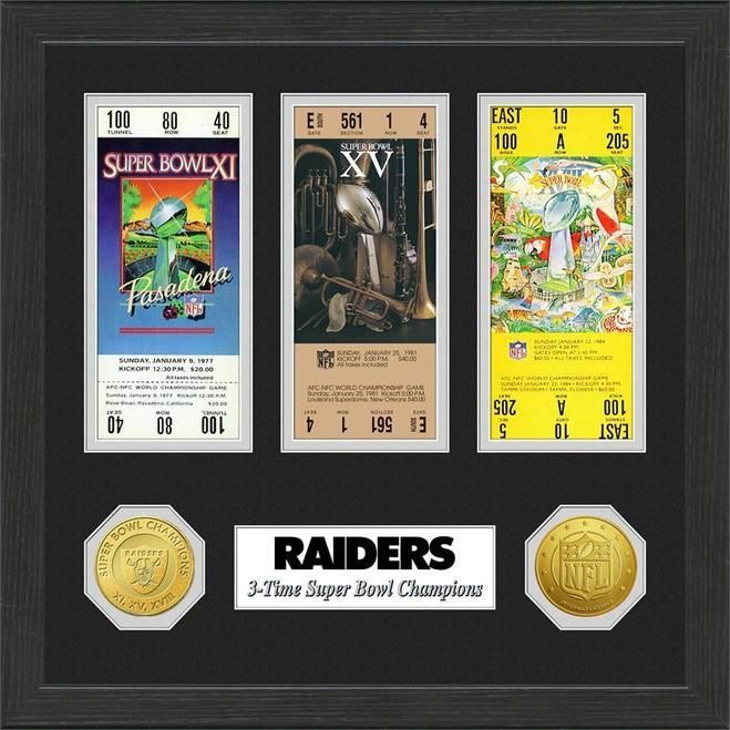 Oakland Raiders Super Bowl Ticket Collection Plaque Z157-3320474477