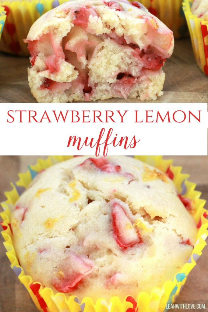 strawberry lemon muffins- a great way to use your fresh strawberries from picking. Perfect for spring and summer.