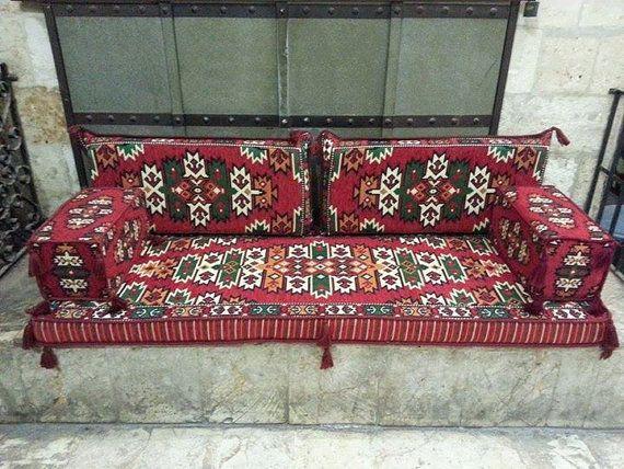 Arabic Oriental Seating Cover Set Hittite Majlis Rug
