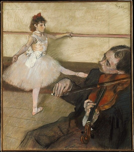 Edgar Degas (French, 1834–1917). The Dance Lesson, ca. 1879. The Metropolitan Museum of Art, New York. H. O. Havemeyer Collection, Gift of Adaline Havemeyer Perkins, in memory of her father, Horace Havemeyer, 1971 (1971.185) #dance