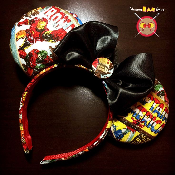 Marvel Superhero Headband by MouseketEarBands on Etsy https://www.etsy.com/listing/247141299/marvel-superhero-headband