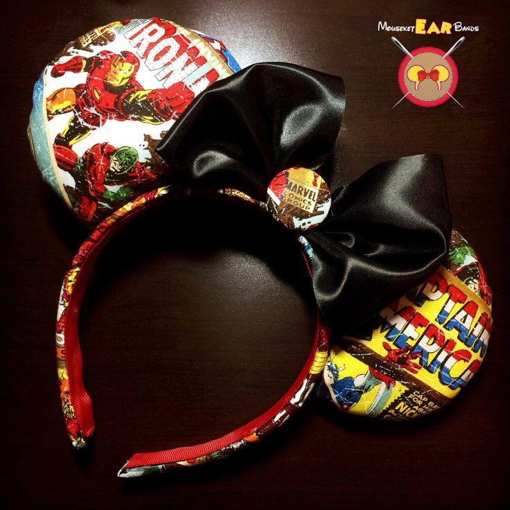 Marvel Superhero Headband by MouseketEarBands on Etsy https://www.etsy.com/listing/247141299/marvel-superhero-headband
