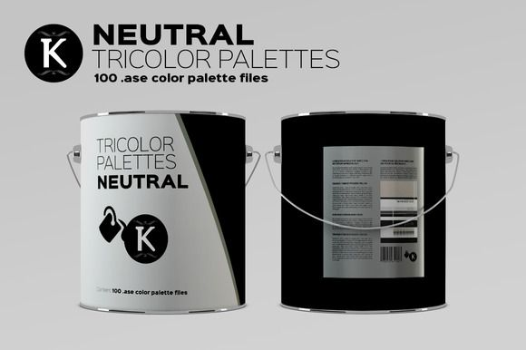 Neutral Tricolor Palettes by Keboto on @creativemarket