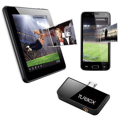 Turbo-X TV tuner for Android devices. Μετάτρεψε κάθε android συσκευή με διπύρηνο επεξεργαστή, σε φορητή ψηφιακή τηλεόραση.