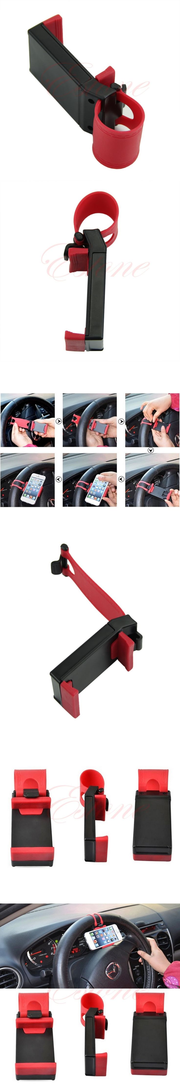 Universal Car Steering Wheel Bike Clip Mount Holder For Samsung for Iphone Phone GPS