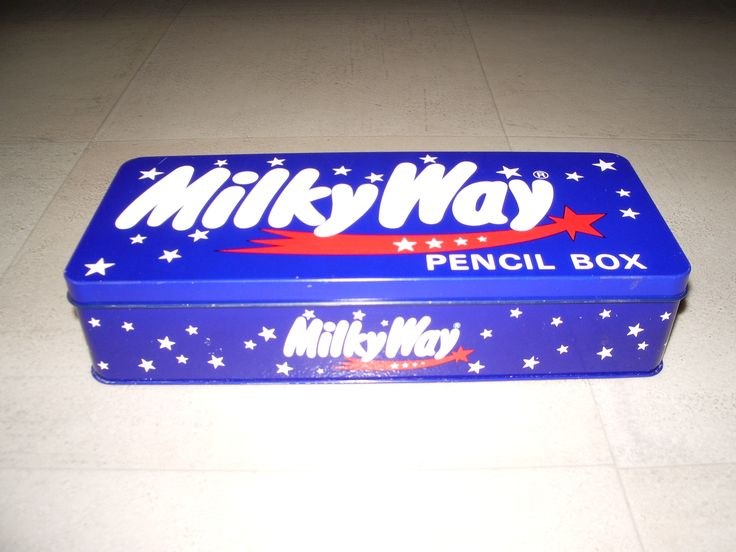 Milky Way pencil box 1988 Mars Haguenau France