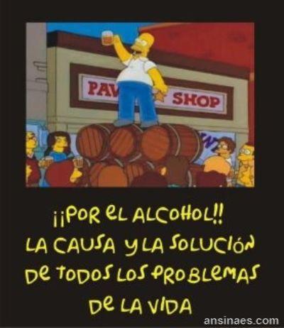 Frases de Homero Simpson -Salud por el Alcohol!!