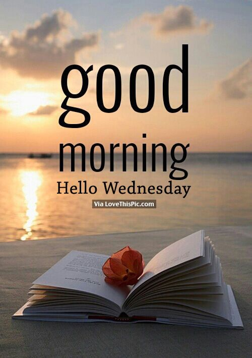 Good Morning, Hello Wednesday