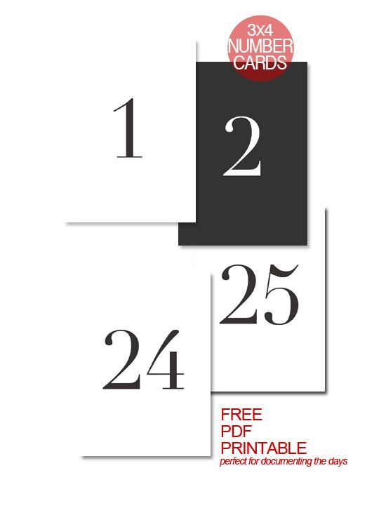 Free 3×4 Numbers & Christmas Carol Printables for December Daily/ Project Life