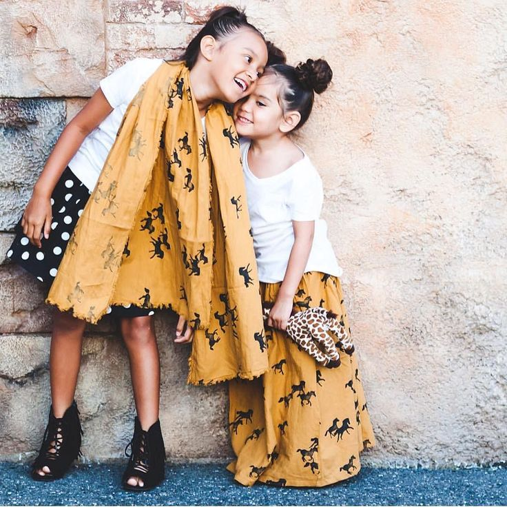 Beautiful sisters in Bobo Choses!! @aleyariley We have this horse skirt left in size 4-5. Horse scarf is also available. #bobochoses #freeusshipping by thepixietrunk