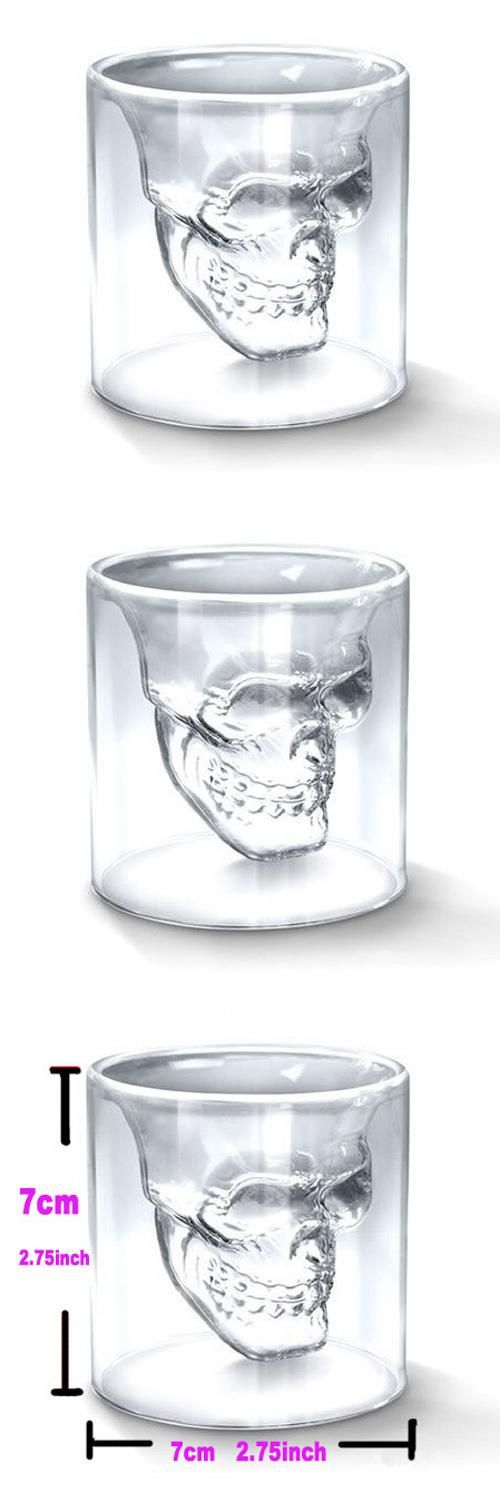 [Visit to Buy] Hot Special Transparent Crystal Skull Head Shot Glass Mug For Whiskey Wine Vodka Home Drinking Ware #Advertisement