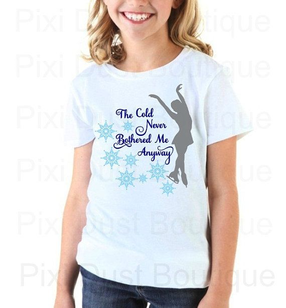 Youth Figure Skating Shirt Ice Skating Shirt by Pixidustboutique