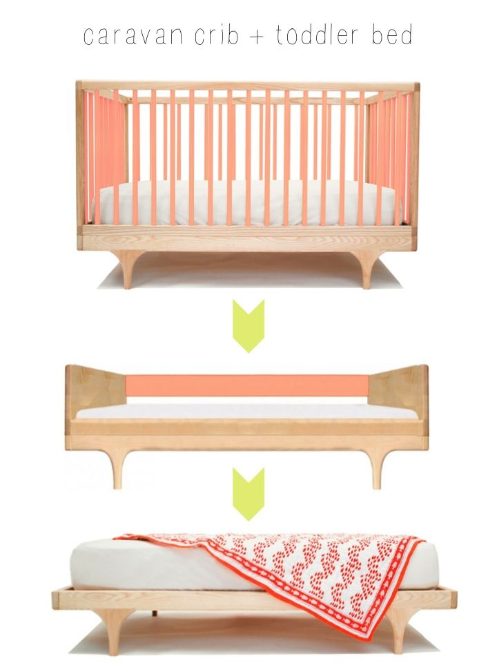 Lit Evolutif Caravan crib - Kalon Stdios - coloris rose disponible sur My…