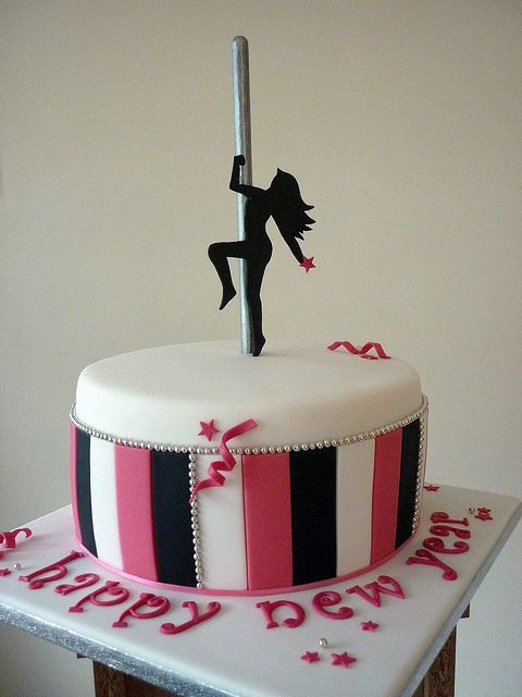 Pole dancing cake by The Designer Cake Company, via Flickr
