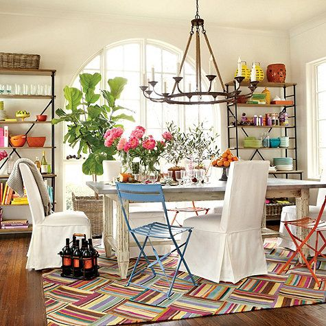 Bold And Bright Dining Room.