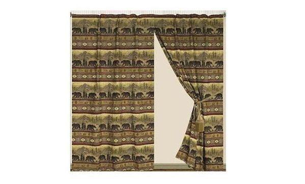 Bear Curtain and Valances | Lodge, Western, Southwest and Southwestern Comforter Sets | PaulsHomeFashions.com
