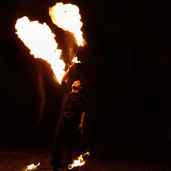 FIRE SPINNING STAFF: 90cm/900mm (35.5 inch) with 65mm (2.5inch) KEVLAR wicks - $50 - Fyregear AUSTRALIA www.fyregear.com