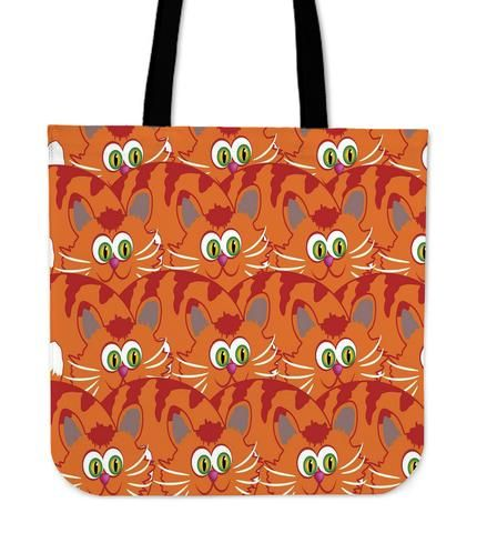 Cats say Meow - Tote Bag. What greater gift than the love of a cat? If you can´t imagine your life without these cute animals this colorful and funny bag is made for you and it will be your new favorite one!