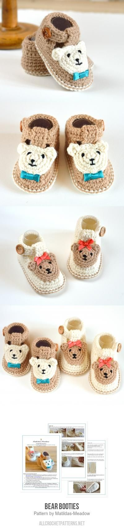Bear Booties crochet pattern