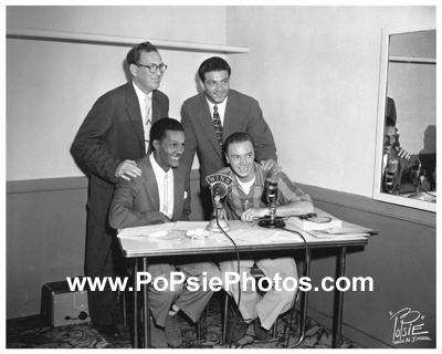 Chuck Berry with Alan Freed at WINS Radio, NYC