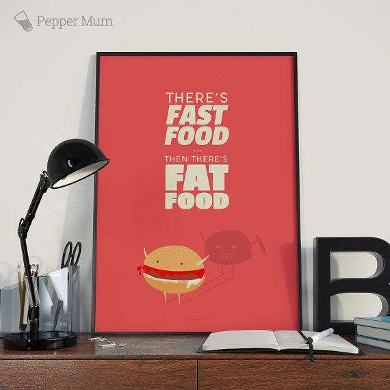 Check out this item in my Etsy shop https://www.etsy.com/uk/listing/269157180/printable-wall-art-of-fast-food-with