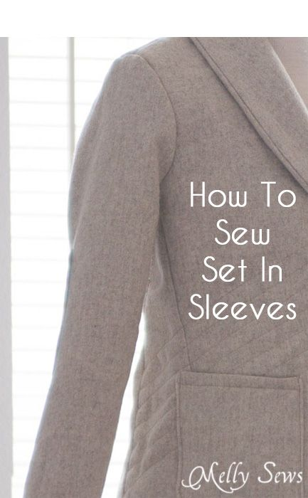 Berkshire Blazer Sewalong - How to Sew Set in Sleeves - Melly Sews