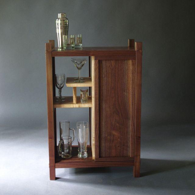 Wonderful Tall Narrow Bar Cabinet Solid Wood Bar Furniture And