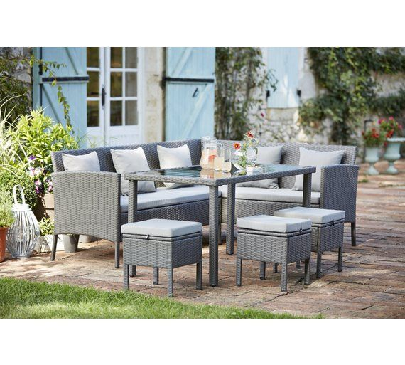 Buy Home 8 Seater Rattan Effect Corner Dining Set at Argos co uk    Garden  Table. 8 best Outdoor seating images on Pinterest   Outdoor seating