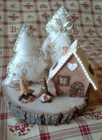@Casetta in feltro e pannolenci, Inverno,Natale