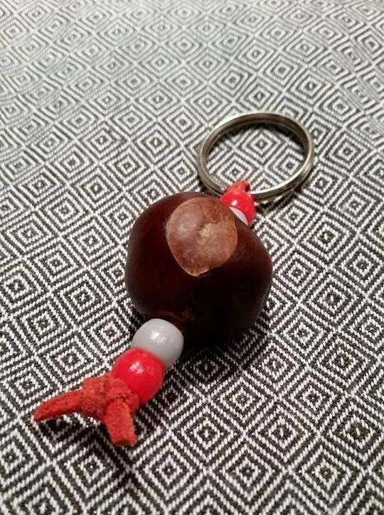 Lucky Ohio State Buckeye Keychain!!