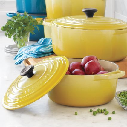 Le Creuset® Signature Soleil Round French Ovens, available at #surlatable