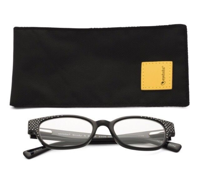 82cb4c1ae3da Eyebobs Eye Bobs Readers STUDY A BROAD 2506 00 +1.50 Black Frame+Rhinestones   89