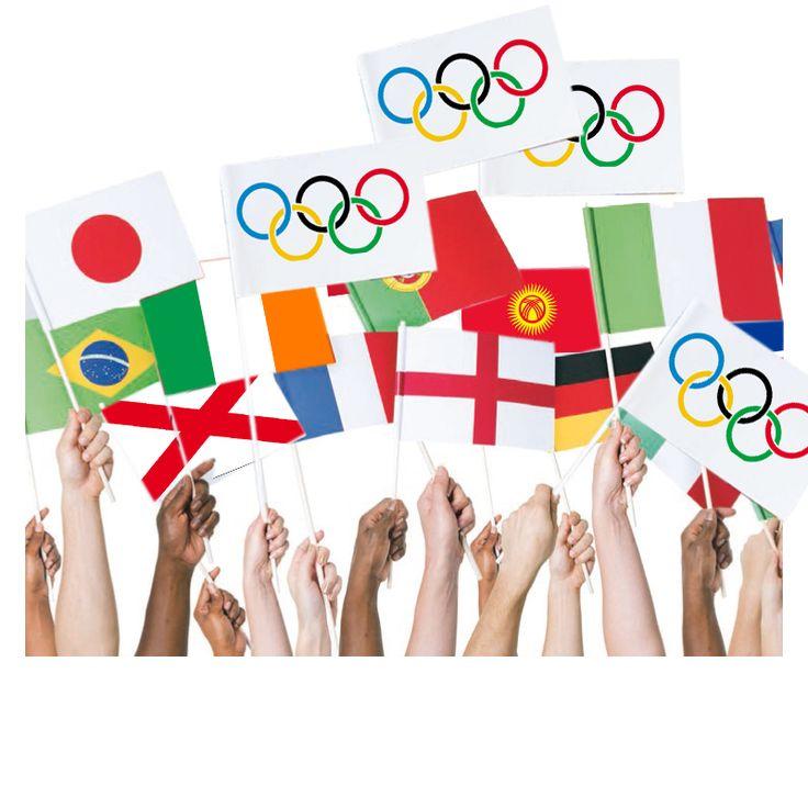Drapeaux des Jeux Olympiques à créer et colorier