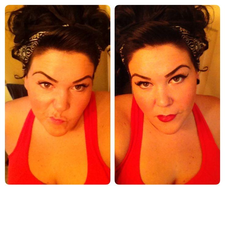 #retrohairandmakeup  #rockabilly #lexiwhitewall #curls #bandana
