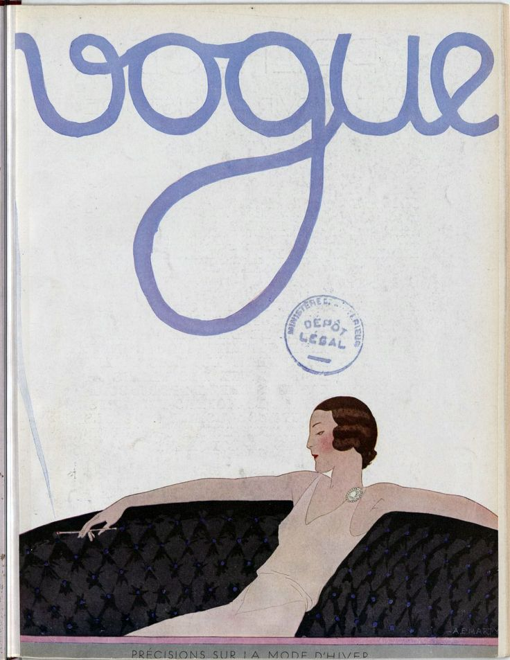 Front cover of Vogue magazine – August 1930. French National Library (Public Domain)