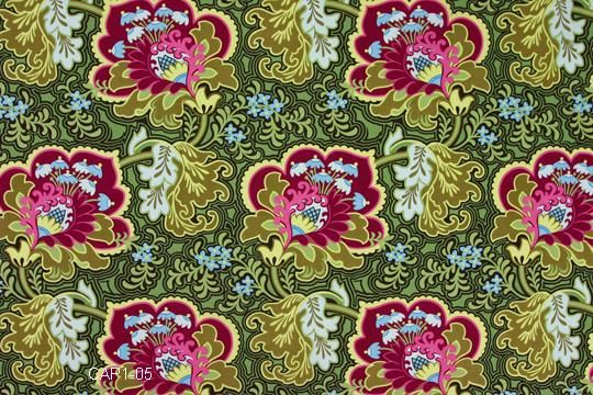 Amy Butler Fabric - Gothic Rose in Burgundy from Belle