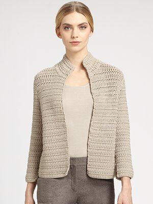 Akris Hand-Crocheted Cardigan Pattern by TerriWard coming next week!