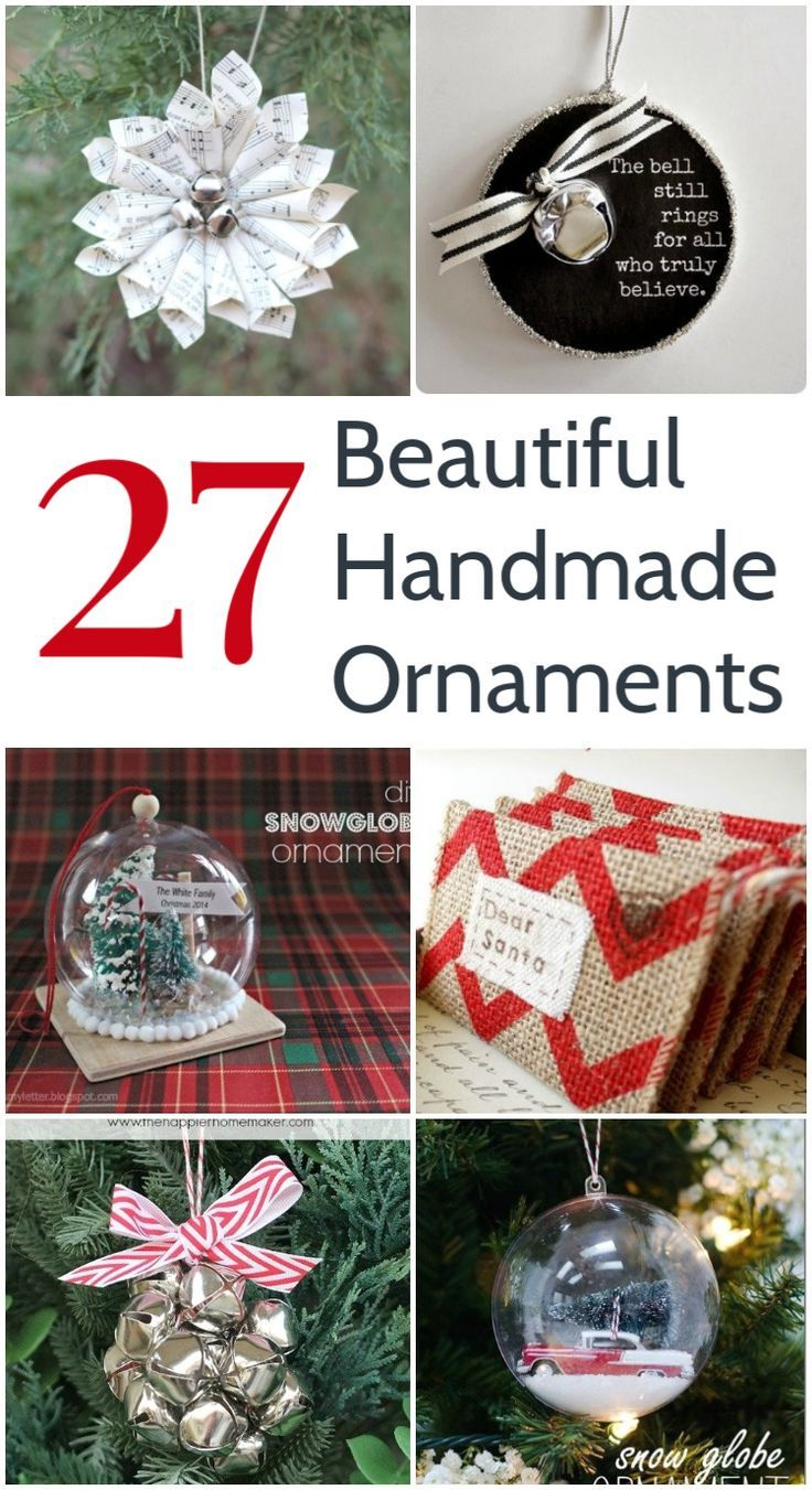 27 Standout Handmade Christmas Ornaments Lovely Etc In 2020 Diy Christmas Ornaments Easy Christmas Crafts To Sell Handmade Christmas Ornaments