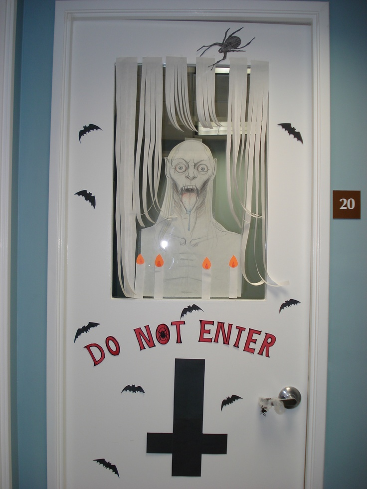 Halloween Door Decorations Do Not Enter Hallow