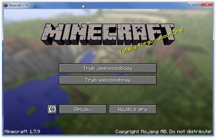 Pobierz MinecraftSP 1.7.9 no-premium. - Potyczki informatyczne