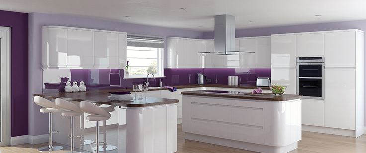 on Pinterest  Pink kitchens, Modern kitchens and Purple kitchen