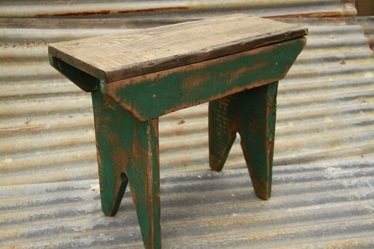 Primitive Bench, Farmhouse Bench, Rustic bench, Milking Stool, Primitive Stool just got one estate sale $5.00!