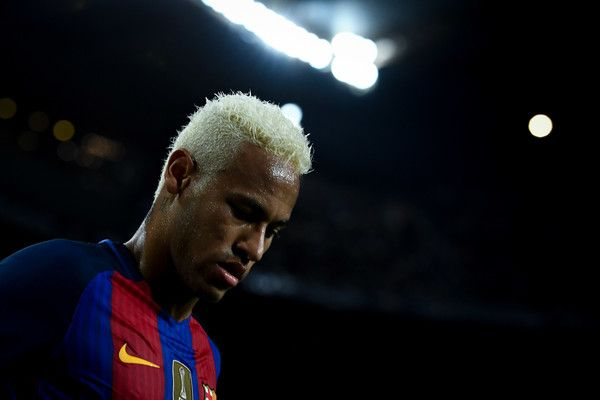 Neymar Jr. of FC Barcelona looks on during the La Liga match between FC Barcelona and Deportivo Alaves at Camp Nou stadium on September 10, 2016 in Barcelona, Catalonia.