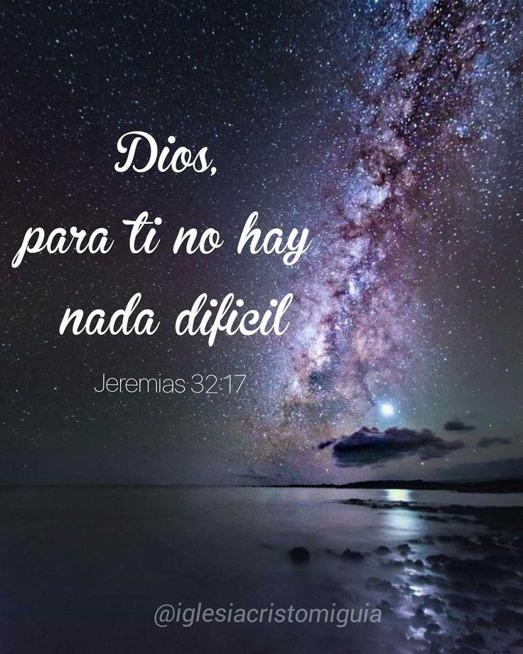 ¡Oh Señor Jehová! he aquí que tú hiciste el cielo y la tierra con tu gran poder, y con tu brazo extendido, ni hay nada que sea difícil para ti; Jeremías 32:17