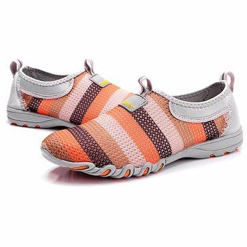 Women Shoes Mesh Breathable Soft Casual Slip On Low Top Fashion Sport Shoes - US$27.43