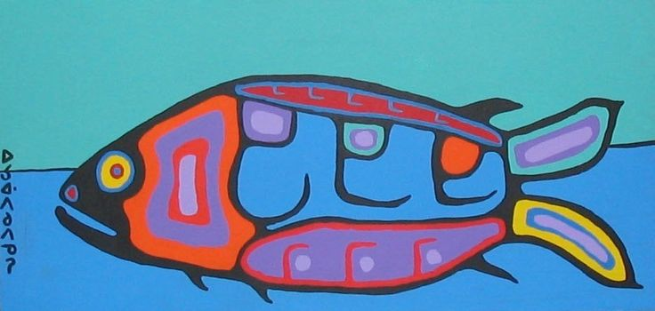 """Communication"" by Norval Morrisseau"