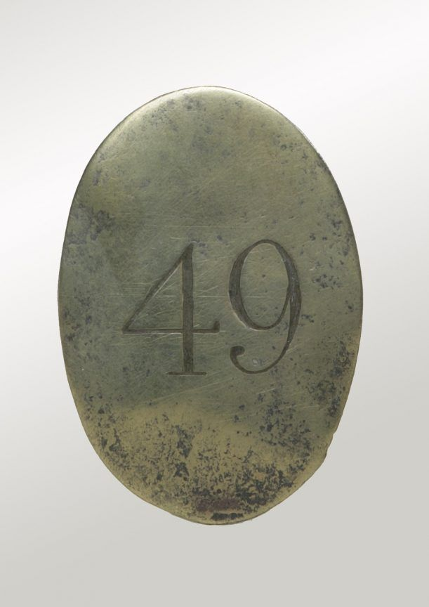 Canadian War Museum- Other Ranks Shoulder-Belt Plate- The 49th (Hertfordshire) Regiment of Foot)- in the Canadas- 1802-1815