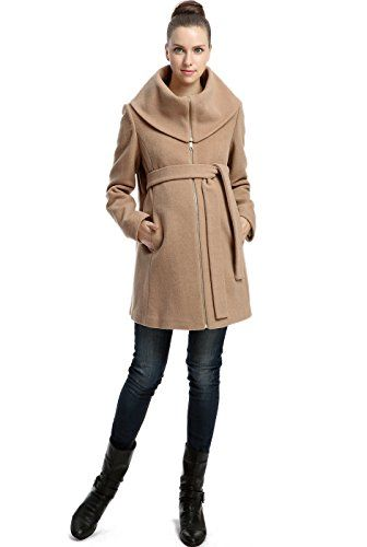 """Just bought this coat for my growing baby bump!  Momo Maternity """"Ava"""" Wool Blend Fold Collar Zip Up Coat - Camel S Momo Maternity http://www.amazon.com/dp/B00F8QA1JQ/ref=cm_sw_r_pi_dp_hxMewb1T7KT67"""