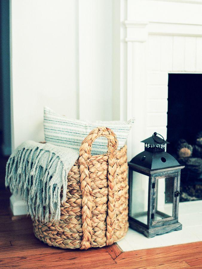 The 25 best blanket basket ideas on pinterest blanket for Living room blanket storage