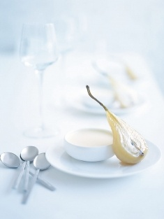 white chocolate panna cotta- by Donna Hay  Perfectly Yum and simple to make :)